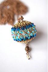 Náhrdelníky - SW AquaBlue - náhrdelník - 3648479