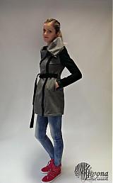 Kabáty - Kabát na kovový zips lemovaný koženkou - 3648702