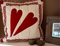 patchwork obliečky srddiečka -