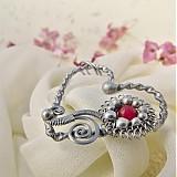 Náhrdelníky - Srdíčko s rubínem - 3650237