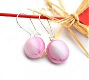 Náušnice - Ružové - 3656777