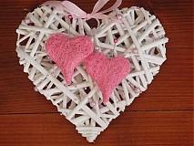 Prstene - Srdce pod obrúčky so sisalovými srdiečkami - 3660462
