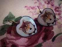 - Náušničky vlk v smokingu - 3661058
