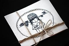 Kresby - pohľadnica poď,objímem ťa - 3665334