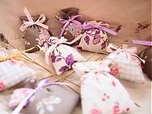 Darčeky pre svadobčanov - Mini levanduľkové vrecko - 3666068