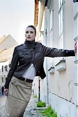 Kabáty - koženná bundička - 3666193
