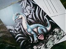 Papiernictvo - Roztomilé dinosaury - A6 printy / pohladnice k rôznym príležitostiam (rôzne druhy) - 3670052