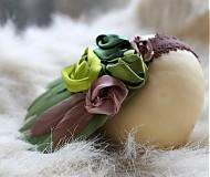 Ozdoby do vlasov - Zelená s perím - 3672801