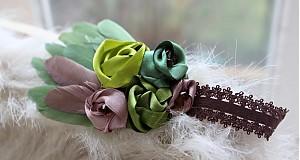 Ozdoby do vlasov - Zelená s perím - 3672803