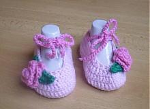 Topánočky - Ružové balerínky - 3677066