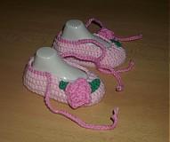 Topánočky - Ružové balerínky - 3677067