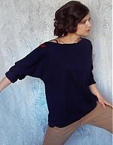 Mikiny - Modré tričko s trištvrťovym rukávom - 3677290