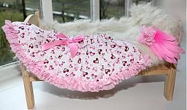 Detské oblečenie - Srdiečková suknička - 3677635