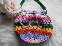 Detské tašky - Pestrofarebná taštička -batôžtek - 3680388