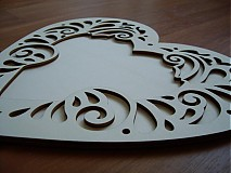 Rámiky - Vyrezávané srdce 30 cm - fotorámik - 3688128