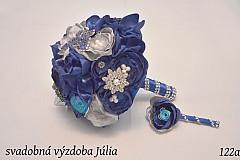 Kytice pre nevestu - svadobná látková kytica - 3689843