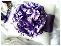 Prstene - Svadobný vankúšik-Violet - 3698993