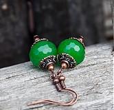 Náušnice - Svieže jadeity - 3699042