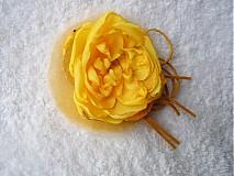 - Brošňa koženo-textilná, trochu šťavy - 3711351