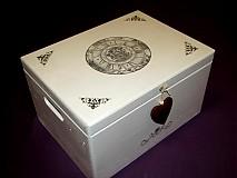 Nádoby - truhlica - biele spomienky - 3712250