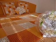 Úžitkový textil - patchwork deka 140x200 alebo 220x220 a vankúš za super cenu - 3714417