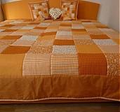 Úžitkový textil - patchwork deka 140x200 alebo 220x220 a vankúš za super cenu - 3714418