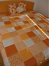Úžitkový textil - patchwork deka 140x200 alebo 220x220 a vankúš za super cenu - 3714420