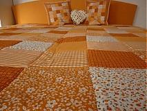 Úžitkový textil - patchwork deka 140x200 alebo 220x220 a vankúš za super cenu - 3714422