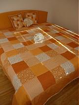 Úžitkový textil - patchwork deka 140x200 alebo 220x220 a vankúš za super cenu - 3714423