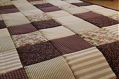Úžitkový textil - patchwork deka 140x200 alebo 220x220 a vankúš za super cenu - 3715173