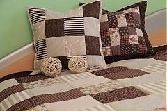 Úžitkový textil - patchwork deka 140x200 alebo 220x220 a vankúš za super cenu - 3715184