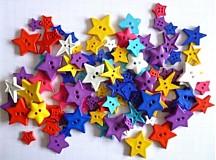 Plastové gombíčky hviezdičky (balíček 20ks)