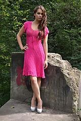 Šaty - cyklamenové šaty - 3720721
