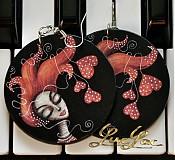 Náušnice - Náušnice Valentínka - 3724216
