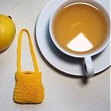 Citrónová kabelka mini 5 cm dva spôsoby nosenia