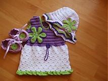 Detské oblečenie - Šatičky,papučky a klobúčik - 372761