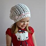 Detské čiapky - Jarná biela - 3729668