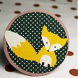Odznaky/Brošne - Textilní brož - líška Soňa - 3734150
