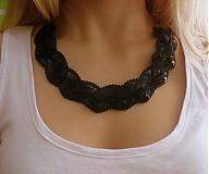 Náhrdelníky - Nádherný čierny s flitrami - 3734271