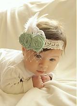 - Detská čelenka s modrými kvietkami - 3734331