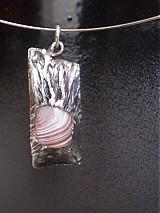 - autorský šperk Helga - maličký pásikavý... - 416222