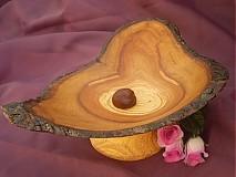 Nádoby - Miska srdce zo sprchnutej jablone /na objednávku - 41644