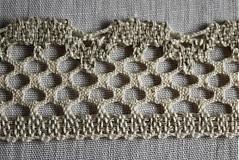 Textil - Krajka ľanová béžová - 422051