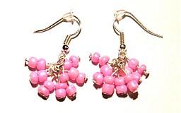 Náušnice - ružové  - 43006