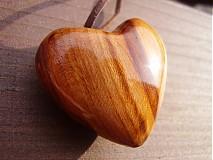 Náhrdelníky - Srdce drevene - 432588