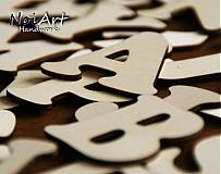Tabuľky - Drevené písmenká - 442940