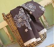 Šály - romantik luxusný vyšívaný - 444050