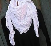 Šatky - romantik šatka biela - 446642