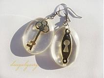 Náušnice - Kľúčik a zámka - 447726