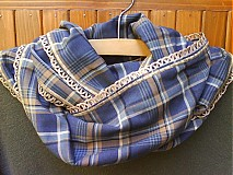 Šály - Nákrčník z látky ,,Škótska kocka - 448854